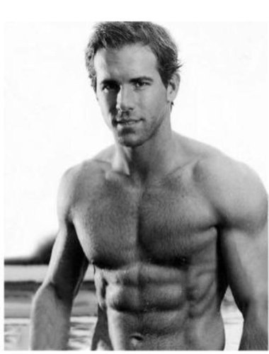 Smoking Hot and Shirtless Ryan Reynolds 8x10 -