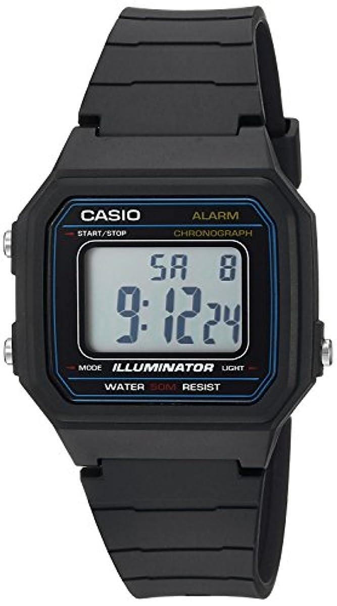 [해외] [카시오]CASIO 손목시계 'CLASSIC' QUARTZ RESIN CASUAL WATCH, COLOR:BLACK W-217H-1AVCF 맨즈 [병행수입품]