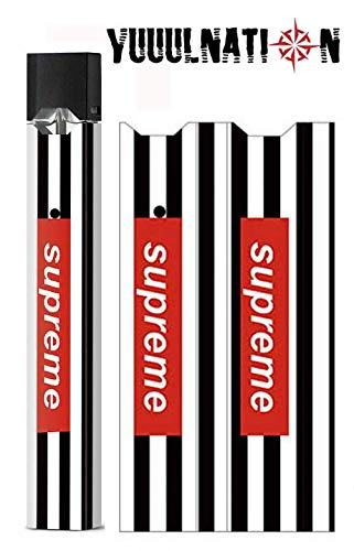 YuuulNation Juul Skin, Wrap, Vinyl, Decal, Full Size, NO Gap (Striped  Supreme)