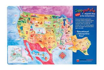 United States Map Magnets.Amazon Com Geopuzzle Magnetic Usa Map 12x18 By Dowling Magnets