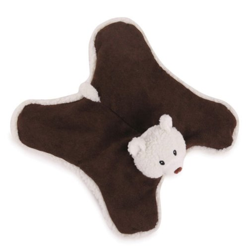 Zanies Plush Sherpa Sidekick Dog Toy, Bear, 11-1/2-Inch, My Pet Supplies