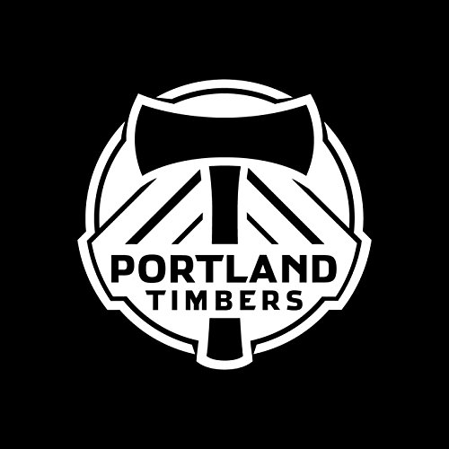 MLS Portland Timbers (WHITE) (set of 2) - silhouette stencil artwork by ANGDEST - Waterproof Vinyl Decal Stickers for Laptop Phone Helmet Car Window Bumper Mug Cup Door Wall Home Decoration (Portland Business Journal)