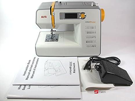 Alfa Compakt 500E-Maquina de Coser, Blanco y Amarillo: Amazon.es: Hogar