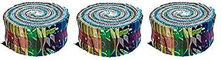 Benartex Kanvas Dance of The Dragonfly 2.5in Pinwheel Strips Metallic,