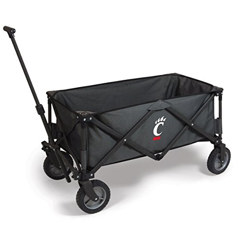 PICNIC TIME NCAA Cincinnati Bearcats Adventure Digital Print Wagon, One Size, Dark Grey/Black by PICNIC TIME