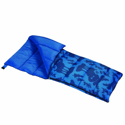 (Wenzel Moose Boys 40 Degree Sleeping Bag, Blue - Stuff Sack)
