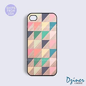 iPhone 5c Case - Colorful Geomatric Wood Print iPhone Cover
