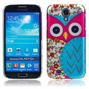 Plastic Protective Case with Big Owl Pattern for Samsung S4 i9500 Rose Red