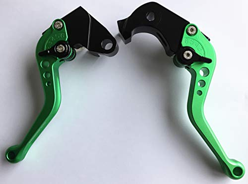 - Short Brake and Clutch Levers for KAWASAKI ZX10R 06-15,ZX6R 2007-2018,ZX636 2007-2018,Z1000 2007-2016,Z1000SX/NINJA1000/TOURER 2011-2016,Z750R 2011-2012-Green