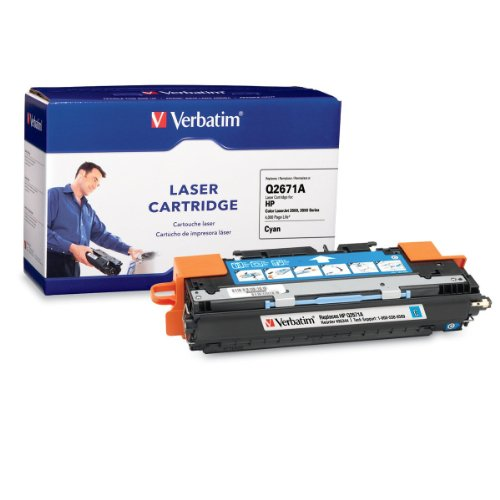 (Verbatim Remanufactured Toner Cartridge Replacement for HP Q2671A (Cyan))