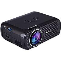 niceEshop(TM) 1000 Lumens LCD LED Mini Projector 1080P HD Home Cinema Theater Projector (Black, US Plug)