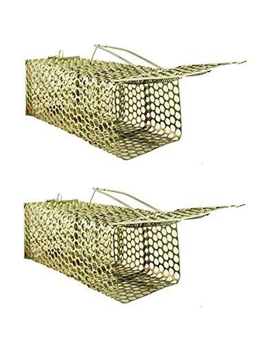 Krisah® 2 pcs (22 X 9 X 8) Medium Size Rat/Mouse/Rodent Trap Cage (2)