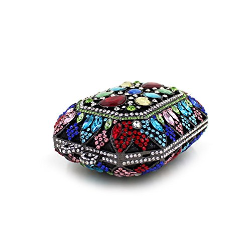 WYB Multicolor Diamant Abendtasche Damen Tasche / hochwertigen Kristall voller Diamanten Abendtasche / Kupplung
