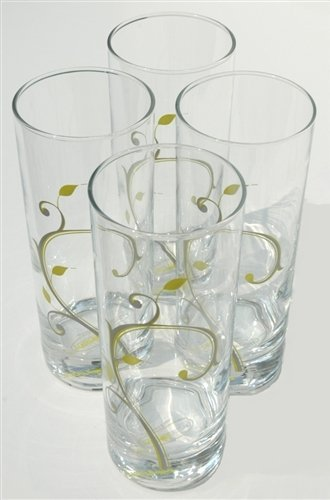 Portion Control Glasses Clearance Sale - Set of 4 Beverage Glasses of 6
