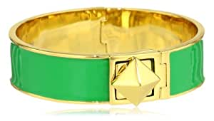 "kate spade new york ""Locked In"" Green Thin Bangle Bracelet"