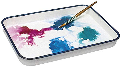 Jack Richeson 400238 Butcher Tray Palette, 13'' x 17'' Size, Porcelain on Steel, 1.2'' Height, 13.7'' Width, 17.4'' Length, White by Jack Richeson