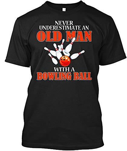 Old Man Bowling Shirt XLT - Black Tshirt - Hanes Tagless Tee