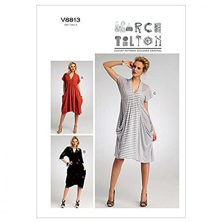 Vogue Marcy Tilton Designer Sewing Pattern 8813 Ladies Dress Sizes ...