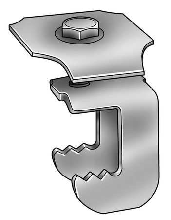 Grating Fasteners, WGG-1B, Grating Clip, G-Clip, 1 1/4 H, PK50 by GRATING FASTENERS