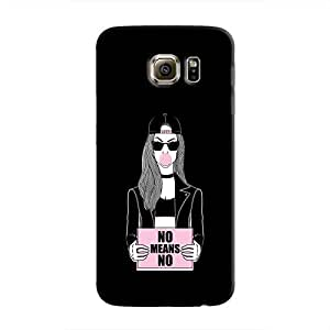 Cover It Up - No Means No Galaxy S6 Hard Case
