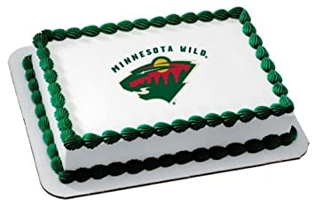 Amazon 2 Round NHL Minnesota Wild Birthday Edible Image