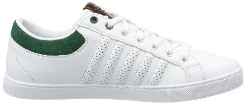 K-Swiss Adcourt 72 03017-189-M Herren Sneaker Weiß (White/Forest/Cowboy)