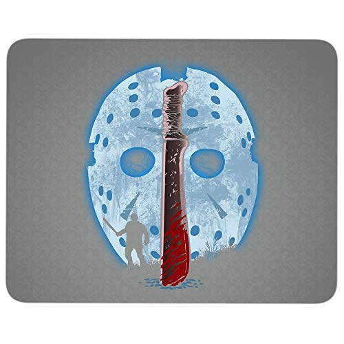 Scary Jason Voorhees Premium-Textured Mouse pad, Friday The 13th Halloween Mouse Pad for Home, Office, Game, Computer, Laptop (Mouse Pad - Dark Gray) ()