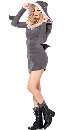 Leg Avenue Women's Cozy Shark Costume, Grey, Medium