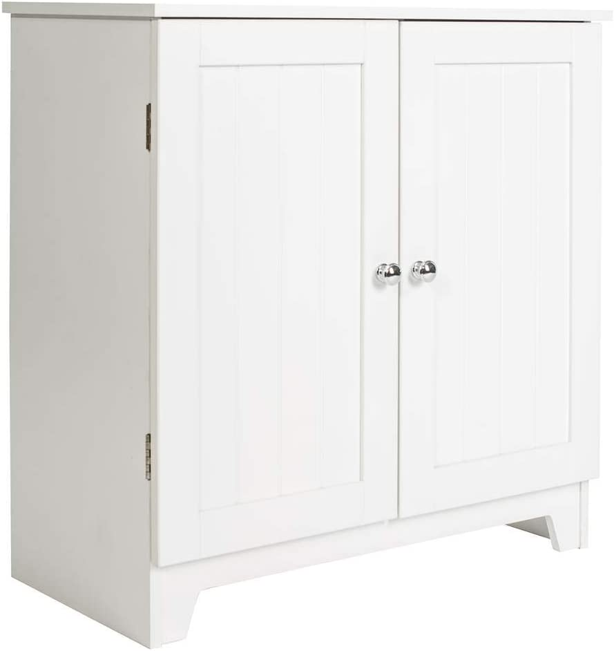 Redmon 5224 Contemporary Country Double Door Cabinet, One Size, White