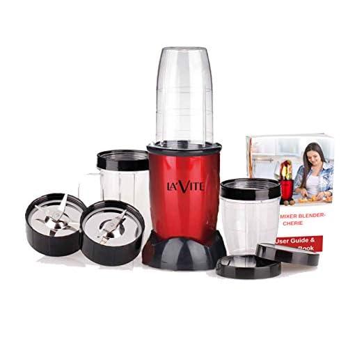 La' Forte Lavite Cherie Mixer Grinder Blender 400 W, 3 Jar, Red