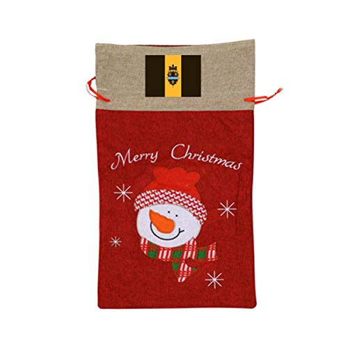 ONE SUIT City of Pittsburgh Flag Christmas Craft Bags Santa Present Drawstring Bag Santa Sack Holiday Large Gift Bags