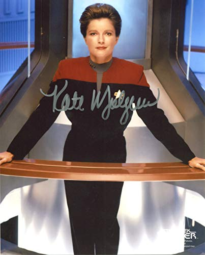 Kate Mulgrew Signed/Autographed Star Trek Voyager 8x10 glossy photo as Captain Kathryn Janeway. Includes FANEXPO Certificate of Authenticity and Proof. Entertainment Autograph Original. from Star League Sports