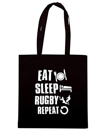 Shopper Nera Shirt LOGO TRUG0102 Speed Borsa SLEEP RUGBY EAT xB1RE6w