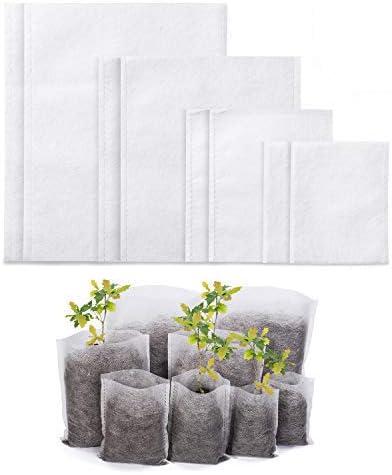 Fngedex 800 bolsas biodegradables no tejidas para guarder/ía bolsas de siembra de plantas y plantas