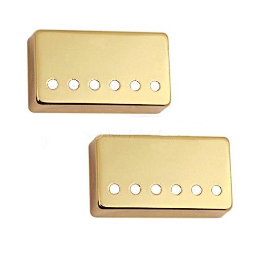 Surfing 1 Set of 2pcs Humbucker Neck & Bridge Guitar Pickup Covers Gold 48mm/50mm
