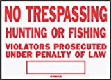 Hy-Ko SS-5 10'' x 14'' Aluminum No Trespassing Sign
