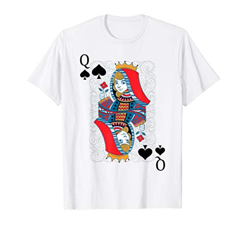 Queen of Spades Playing Card Poker Halloween Costume Card]()