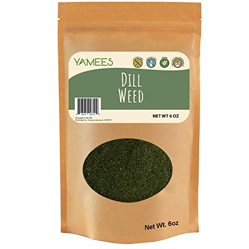 Dill Weed Dip - Yamees Dill Weed - Dill Weed Spice - Dried Dill - Bulk Spices - 6 Ounce Bag
