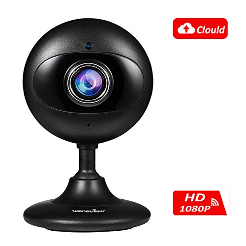 Wansview Wireless Security Camera, 1080P Home WiFi Surveillance Indoor IP Camera with Motion Dection,Night Vision and Two-Way Audio for Baby/Elder/Pet/Nanny-and Cloud Storage Included-K3 (Black)