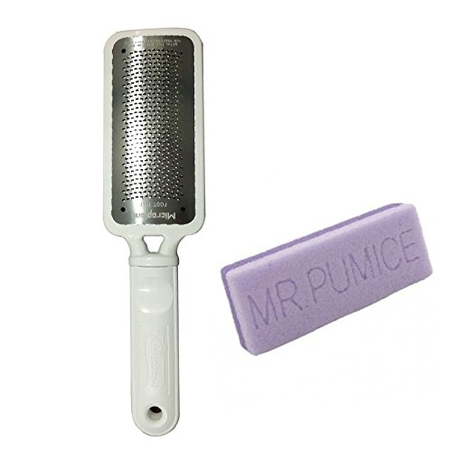 Ultimate File Foot (Microplane Foot File Colossal Callus Remover White Color + Mr Pumice Extra Coarse Ultimate Pumi Bar)