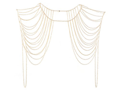 Imixlot Tassels Link Body Shoulder Crossover Harness Waist Belly Body Chain by imixlot
