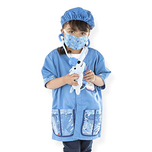 Melissa & Doug Veterinarian Role-Play Costume Set, Pretend Play, Materials, Machine-Washable, 17.5