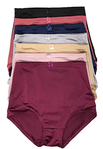 ab4169f10653 Peachy Panty Lingerie Women's 6 Pack Various Style of Comfortable Smooth  Soft Nylon Panties