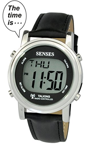 TimeChant Atomic! Talking Watch - Sets Itself Senses Metal Easy-to-Read Talking Watch (1020)