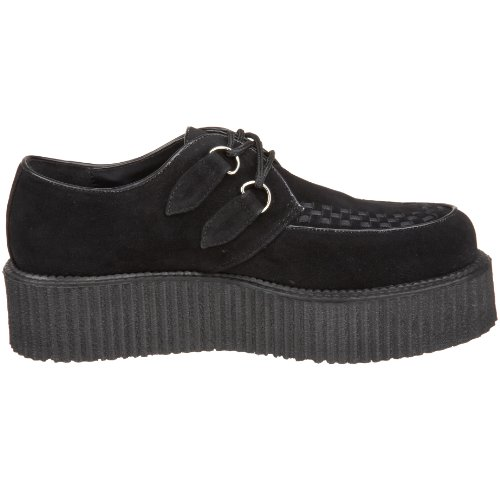 39 Demonia 6 EU UK Blk 502S Suede CREEPER V Vegan rq7wrzA