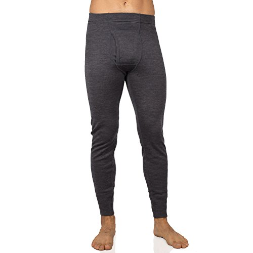 Midweight Base Layer Bottom (Elementex Merino Wool Men's Midweight Thermal Pant - Charcoal Gray/Extra)