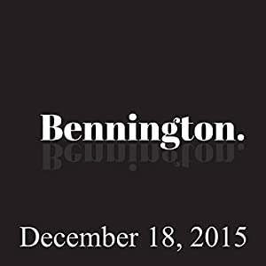 Bennington, December 18, 2015 Radio/TV Program