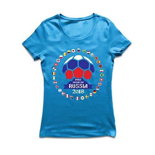 lepni.me Women's T-Shirt National Football Team Flags - Ru