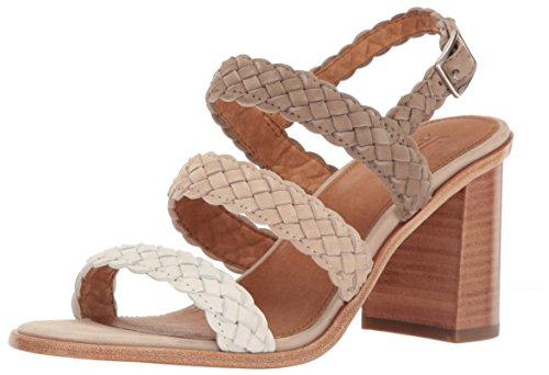 FRYE White Sandal Dress Multi Amy Braid Women ZvBZpr