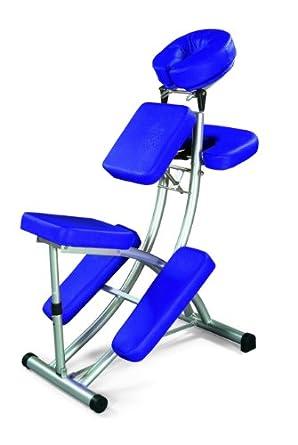 """3B Scientific W60606B Blue Pro Massage Chair, 47.2"""" Length x 21.7"""" Width x 29.5"""" Height"""